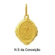 Pingente Nossa Senhora Das Conceição Ouro 18K Dmr6 12 K110