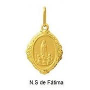 Pingente Nossa Senhora De Fátima Oval Ouro 18K Dmr6 K110