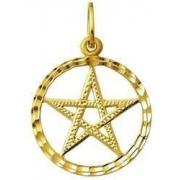 Pingente Pentagrama Estrela 5 pontas Salomão Ouro 18k K130