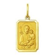 Pingente Medalha São José Ouro 18k Retangular Pequena K100