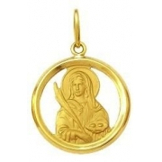 Pingente Santa Luzia Ouro 18K Dmr 11V 14 K600