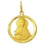 Pingente Santa Teresinha Ouro 18K Dmr V 13 K130