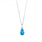 Pingente Topázio Azul Natural Swiss Blue Extra Gota 12 Milimetros