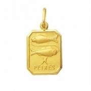 Pingente Zodíacos Signos Retangular Ouro 18K K120