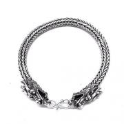 Pulseira Cobra 6,8 Milímetros Laminada Em Prata De Lei Bali Dragão 21516
