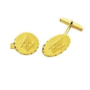 Abotoadura Maçonaria k730 Ouro 18K
