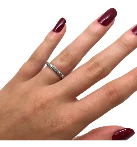 Aliança Diamantes Brilhantes Ouro Branco 0,62Cts 00815 K990