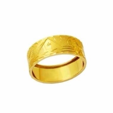 Anel Aliança Escrava Egípcia 7 Milimetros Genuíno Ouro 18K Unissex