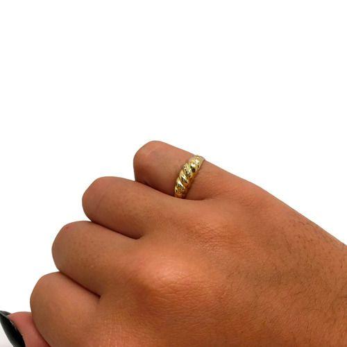 Anel Aparador Diamantes Ouro 18K 22834 K200
