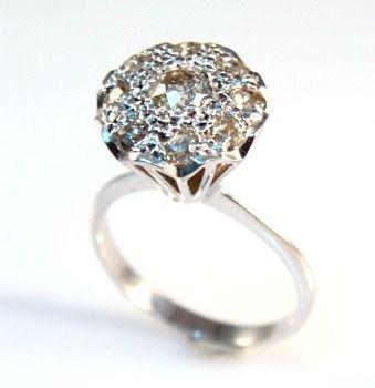 Anel Chuveiro de Diamantes 57 Pts Ouro Branco 18K 11222 K970