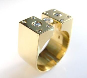 Anel Diamante Flutuante Masculino Ouro 18k 10166 K2700