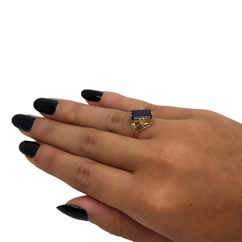 Anel Granada Natural Designer Ouro 18K 01476