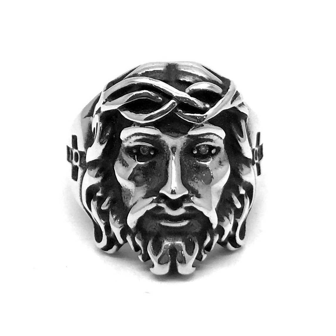 Anel Jesus Cristo De Nazaré Prata De Lei 23845
