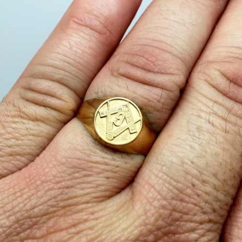 Anel Maçonaria Dedinho Masculino Ouro 18K 22251