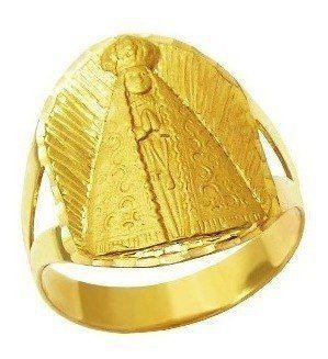 Anel Nossa Senhora Aparecida Em Ouro 18K Da 196Ap 530