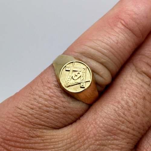 Anel São Bento Genuino Genuíno Ouro 18k K300