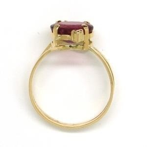 Anel Turmalina Rosa Rubelita Extra Em Ouro 18K 18648 K630