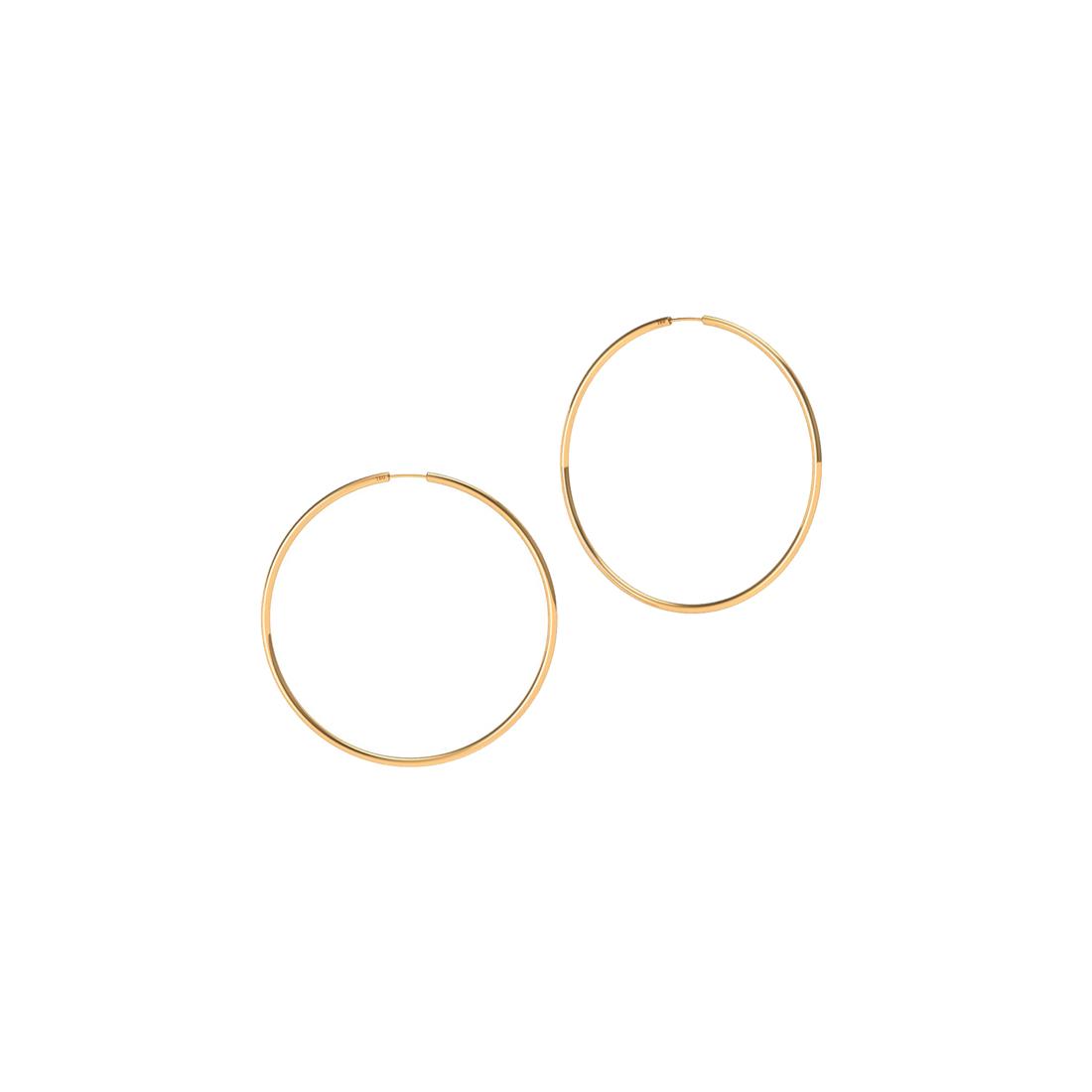 Brinco Argola 11 Milímetros Fio Redondo Unissex Ouro 18K K045 09320