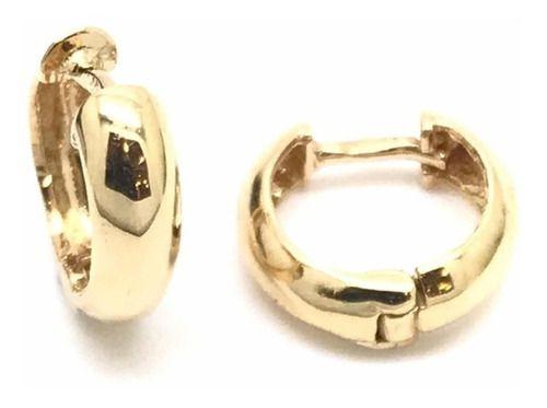 Brinco Argola Clip 9 Milímetros Segundo Furo Piercing Ouro 18K 23294 K140