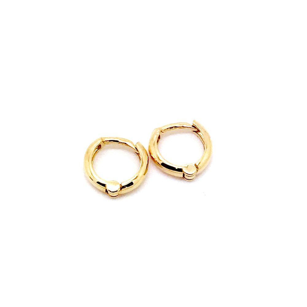 Brinco Argola Segundo Furo Cuff Earband Piercing Ouro 18K 23898 K075