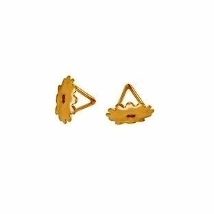 Brinco Bola Dupla 5 Milímetros Tarraxa Rosca Ouro 18K 22285 K110