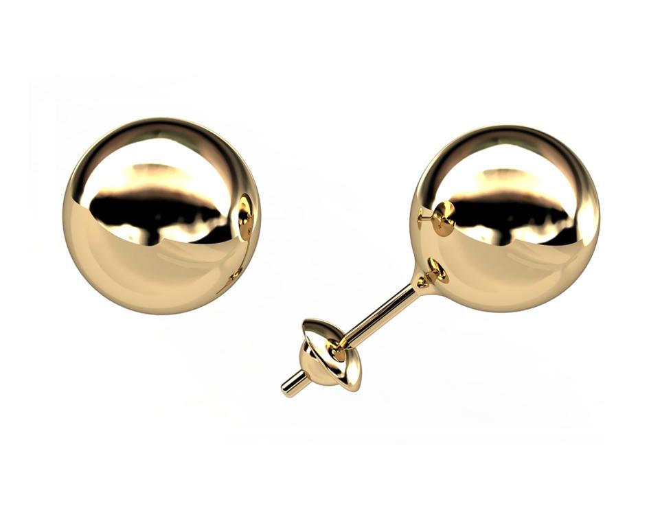 Brinco Bola Ouro 18K 5 Milímetros Ouro 18K 08074 K050