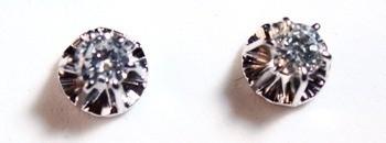 Brinco Diamante Brilhante 0,26 Cts Classico Ouro Branco 18K k680