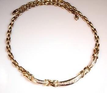 Colar Diamantes Naturais Em Ouro 18K K3600