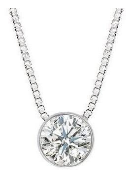 Colar Ponto De Luz Diamante Brilhante 27 Pts Ouro Branco 18K K540