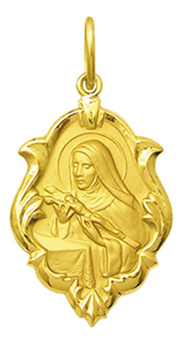 Medalha Santa Rita De Cássia Ouro 18k Ornato Mini