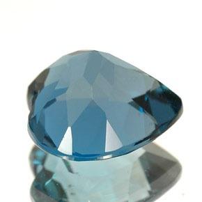 Pedra Lapidada London Blue Topázio Extra Coração 8mm x 8mm