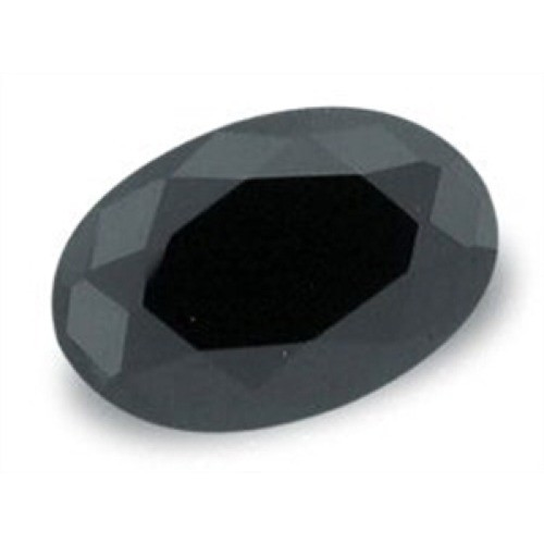 Pedra Ônix Negra Natural Facetada Oval 10X12 Milímetros