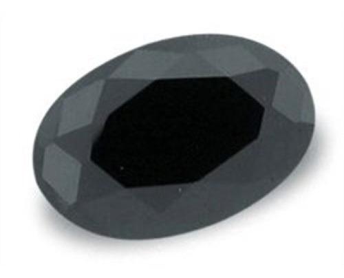 Pedra Ônix Negra Natural Facetada Oval 8x10 Milímetros