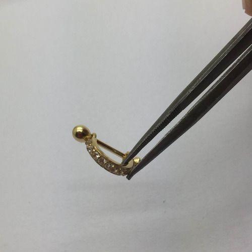 Piercing Cartilagem Meia Argola Ponto Luz Ouro 18K 25901 k070