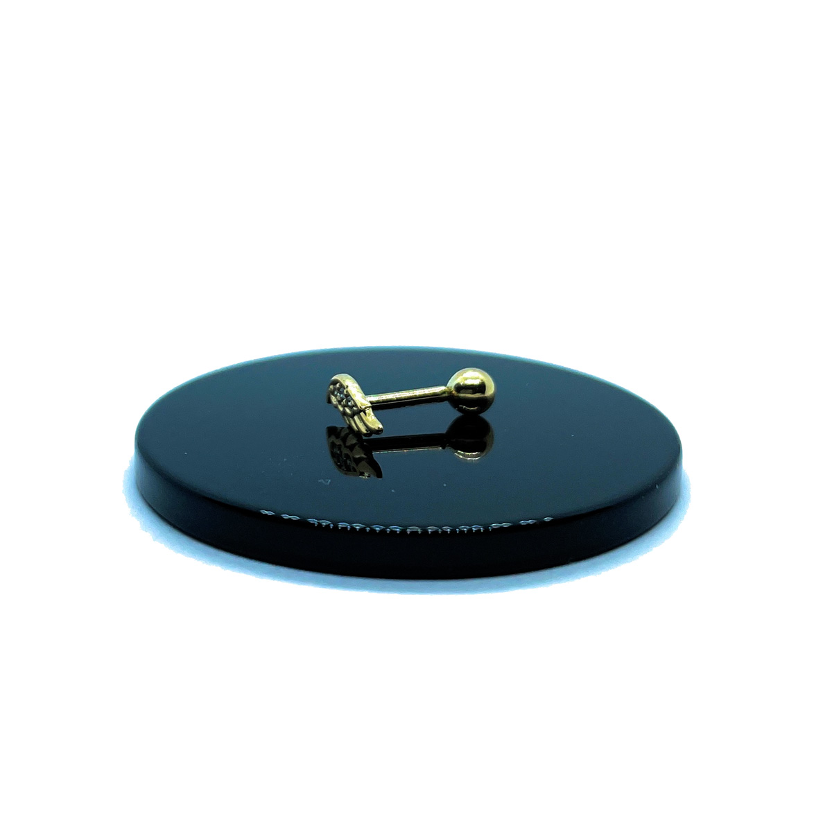 Piercing Helix Mini Asa De Anjo Brilhante De Zircônia Ouro 18K 25713 K040