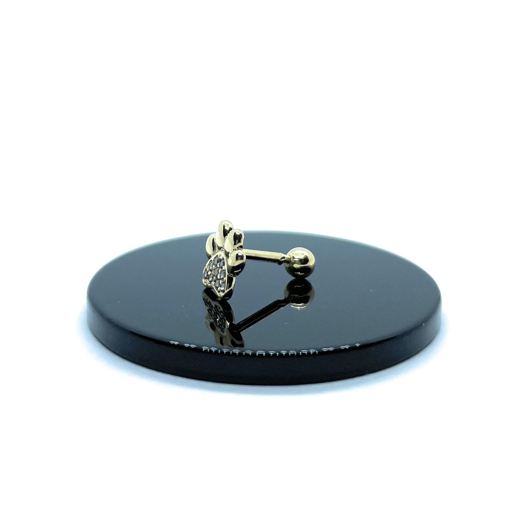 Piercing Helix Tragos Cartilagem Patinha De Cachorro Ouro 18K 25720