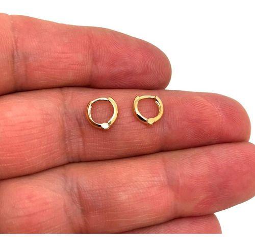 Piercing Mini Segundo Furo Clip Ouro 18K Novo 23898 K040