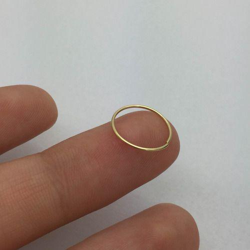 Piercing Nariz Argola 10 Milimetros Ouro 18K K015 39092