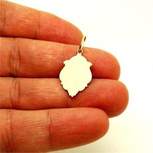 Pingente Medalha Nossa Senhora De Fátima Ouro 18K Ornato Pequena K070
