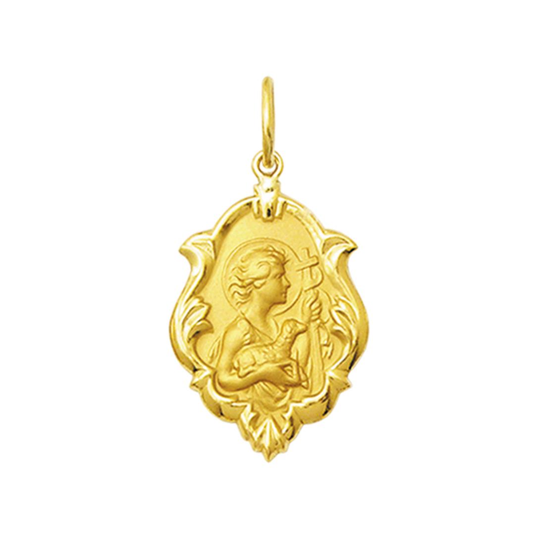 Pingente Medalha São João Em Ouro 18K Ornato Grande K230