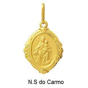 Pingente Nossa Senhora Do Carmo Ouro 18K Dmr6 K110