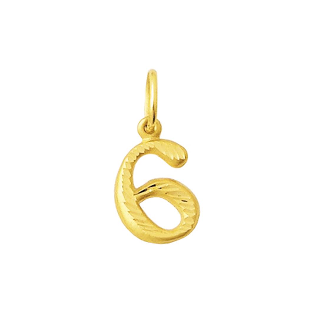 Pingente Numero De 0 Ao 9 Em Ouro 18 K Dpn 040