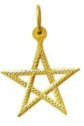 Pingente Pentagrama Estrela De Salomão Ouro 18k Grande K180