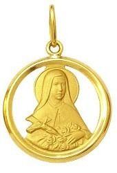 Pingente Santa Teresinha Ouro 18K Dmr 11V 13 600