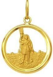 Pingente Santo Expedito Ouro 18K Dmr 2V 35 K210