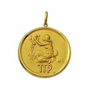 Pingente Zodíacos Qualquer Signos Grande Forrado Em Ouro 18K K1200