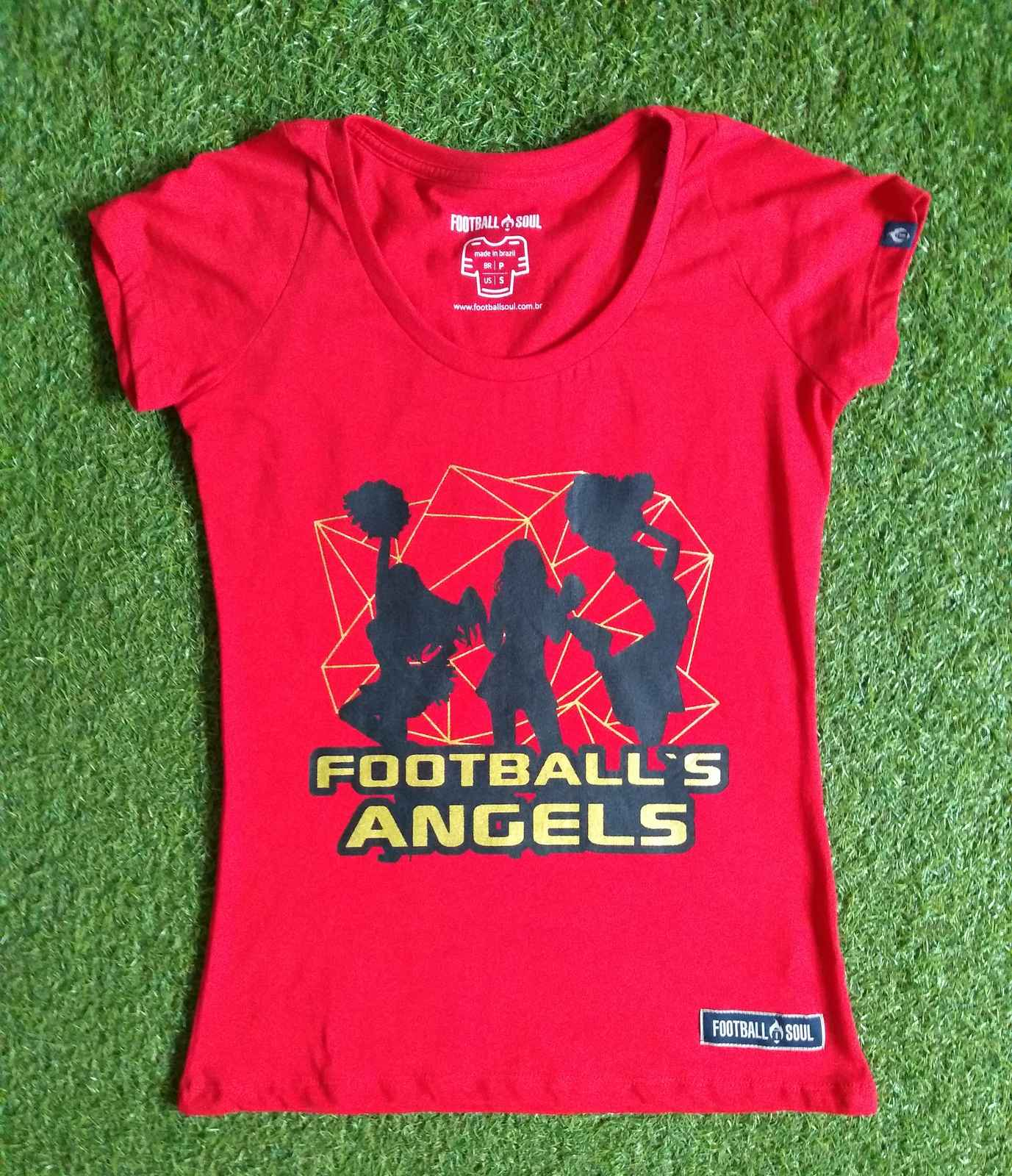 CAMISETA FOOTBALL ANGEL'S RED FEM