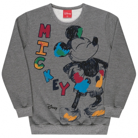 Blusão Moletom Infantil Menino Mickey