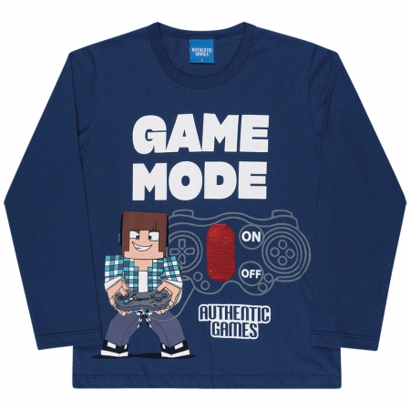 Camiseta Manga Longa Authentic Games Game Mode
