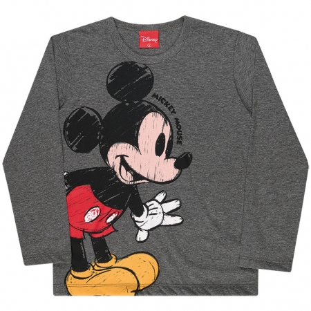 Camiseta Manga Longa Mickey